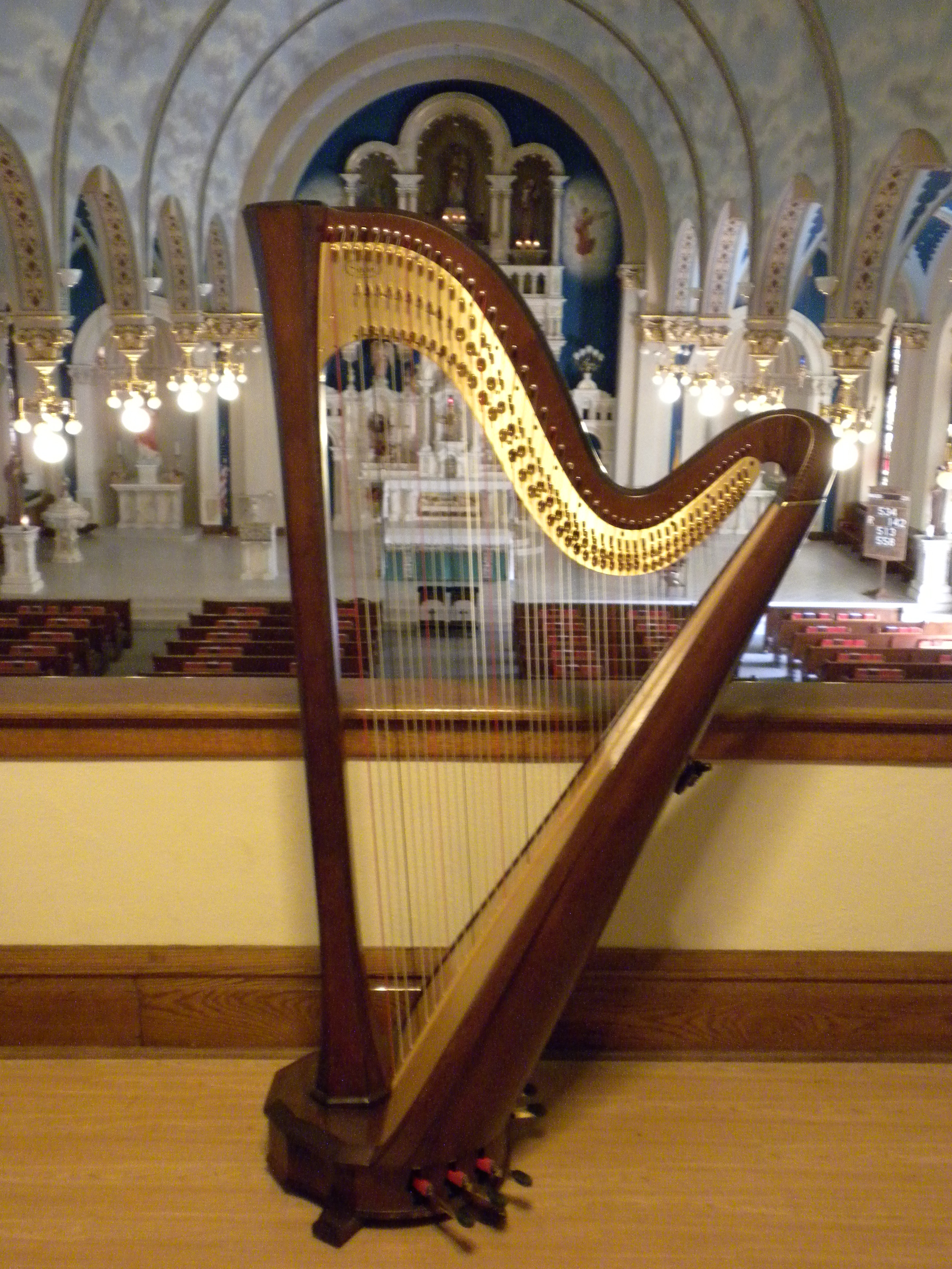 Picture of Harp in a Church